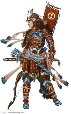 fantasy-scifi: Paizo- Female Samurai by FreShPAiNt Kabuto Samurai, Ronin Samurai, Samurai Armor, Female Samurai Art, Character Concept, Character Art, Character Design, Fantasy Warrior, Fantasy Rpg