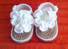 crochet baby sandals Crochet baby flip flop by meesatungshop