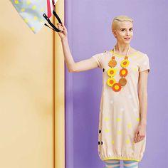 Full of mod and retro vibes. Marimekko Tango Yellow/Orange Necklace