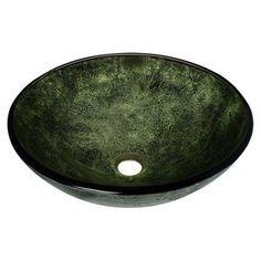Have to have it. Polaris Sinks p926 Glass Vessel Bathroom Sink - $158 @hayneedle