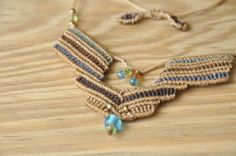 Handmade macrame necklace by MichalGeist on Etsy