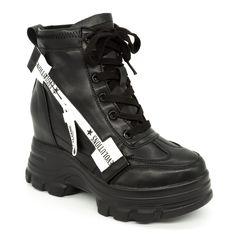 Ghete cu Platforma Dama QQ11 Black (000) Mei Combat Boots, Search, Winter, Shoes, Fashion, Winter Time, Moda, Zapatos, Shoes Outlet