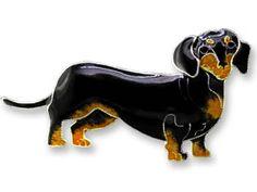 Sterling Silver Dachshund Pin - dachshund accessories