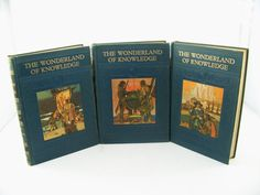 Ten Vintage Colorful Books The Wonderland of by FineLineTreasures, $69.00