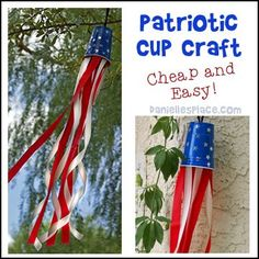 Fourth of July, 4th of July, Patriotic Crafts for Kids from http://www.daniellesplace.com