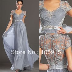 Hot New Elegant Silver Grey Ruched Floor Length Evening Dress Lace Mother of the Bride Women's Wedding Pant Suits Chiffon SJ310 US $126.50
