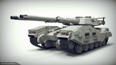 "E.F.G.F. M61A5 Main Battle Tank ""Semovente"" Phantom from Gundam universe Highpoly fun art by IlyaIvanovArt"