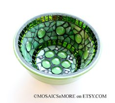 Mosaic Jewelry Keys Dish / Bowl in Green/Green by MOSAICSnMORE