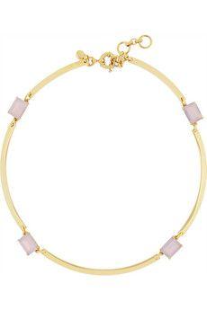 J.Crew Gold-tone crystal necklace   NET-A-PORTER