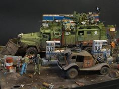 Scale model diorama by Sergey Kovalev. A post apocalypse scene. Pinned by #relicmodels.