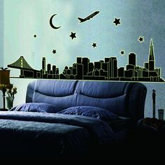 Good Price DESIGN City Nightdecoration Luminous Stickers Wall Home Living  Room Decals Glow In The Dark