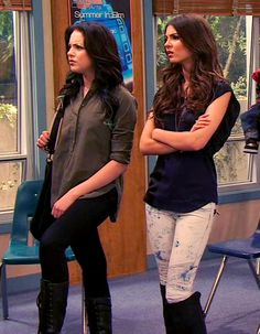 Victorious Show, Victorious Nickelodeon, Edgy Outfits, Movie Outfits, Band Outfits, Justice Boots, Liz Gilles, Tori Vega, Little Girls