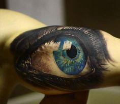 Great Eye Sleeve Tattoo For Men