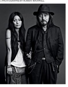 I love LIMI's design and herself. /Yohji Yamamoto and his daughter Limi Feu, Japanese Fashion designers.