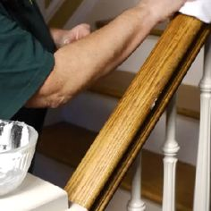 How to Clean Sticky Wood Stair Handrails