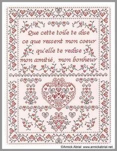 Que cette toile te dise, fiche point de croix amitié - annickabrial.net