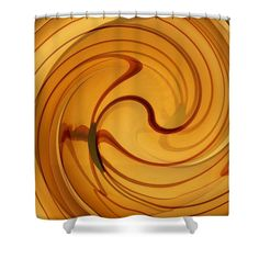 """Amber Swirl 4 Shower Curtain   $65 at http://fineartamerica.com/products/amber-swirl-4-sarah-loft-shower-curtain.html  This shower curtain is made from 100% polyester fabric and includes 12 holes at the top of the curtain for simple hanging. The total dimensions of the shower curtain are 71"""" wide x 74"""" tall."""