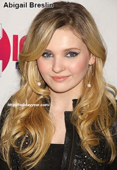 Apr 14 - Abigail Breslin, American child actress was Born Today. For more famous birthdays http://holidayyear.com/birthdays/
