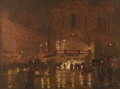 Algernon Talmage (1871–1939), London, Wet Evening, Gaiety Theatre.