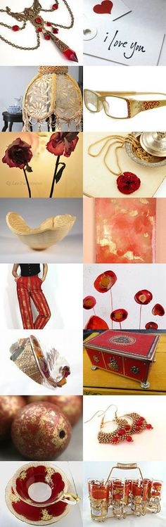 Red and Gold Bling for Spring by Turban Diva on Etsy
