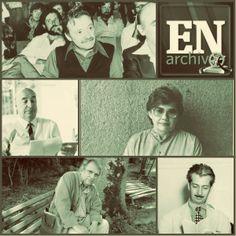 Poetas: Mario Benedetti, Pablo Neruda, Miyó Vestrini, Rafael Cadenas y Vicente Gerbasi. Fotos (ARCHIVO EL NACIONAL)