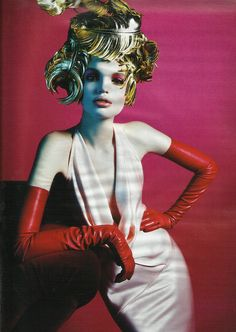 Daphne Groeneveld for W Magazine, March 2012.  Photographed by Mario Sorrenti and styled by Edward Enninful.