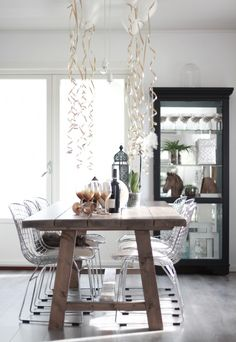 www.byrust.no/blogg Dining Table, Decor, Table, Home, Kitchen Table Decor, Kitchen Table, Rustic Dining Table, Home Decor, Table Decorations