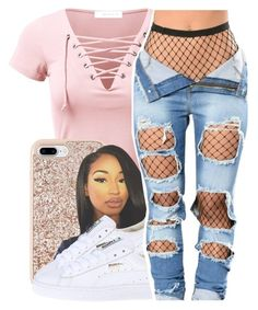 """""""Do U Dirty"""" by queen-vanessa ❤ liked on Polyvore featuring Kate Spade and Puma"""