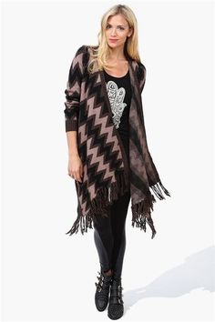 Wrap Poncho Sweater in Khaki @Alexandra Kostalas  another one