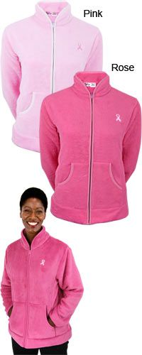 Light Pink XXL Please = SuperCozy™ Pink Ribbon Jacket at The Breast Cancer Site