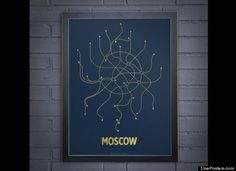 Cayla Ferari and John Breznicky were just looking for a way to decorate the walls on their New York apartment. Cayla, a graphic designer, had creat. Subway Map, Cartography, Map Art, Data Visualization, Graphic Design, Cool Stuff, Moscow, Infographics, Modern