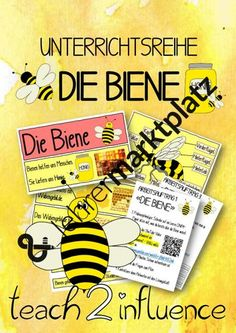 Unterrichtsreihe Biene Agriculture Farming, Zoo Animals, Honey Bees, Teaching Materials