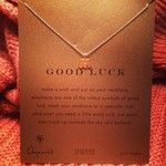 good luck elephant necklace, gold dipped - Dogeared