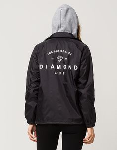 $79 DIAMOND SUPPLY CO. Logo Womens Coaches Jacket