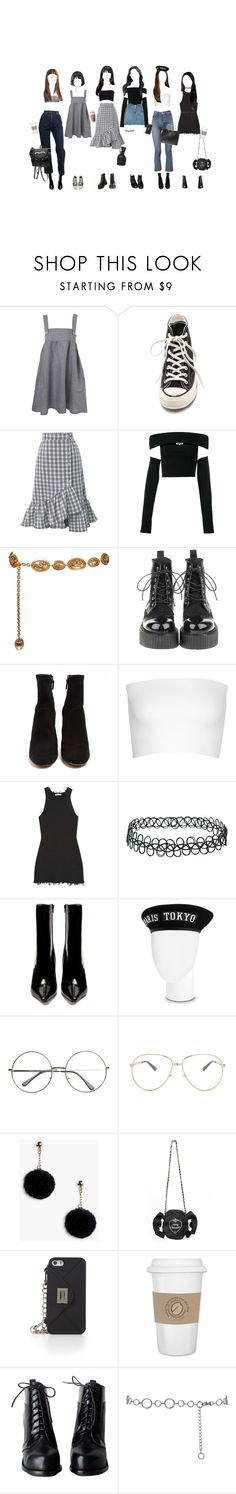 """you're mine"" by aayert ❤ liked on Polyvore featuring Topshop, Converse, WithChic, McQ by Alexander McQueen, RtA, Chanel, Sophia Webster, Calvin Klein Collection, CÉLINE and Vetements"