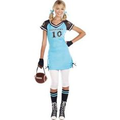 Touchdown Cutie Costume for Teen Girls - Halloween City Halloween Costumes For Teens Girls, Cute Costumes, Halloween Costumes For Girls, Girl Costumes, Adult Costumes, Costumes For Women, Costume Ideas, Halloween Ideas, Halloween Party