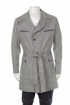 Hugo Boss Orange Men's Trench Coat Gray Blazer Jacket Size: L #HUGOBOSS #Trench