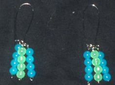Green & Blue Loop Earrings (( Glow in the Dark))