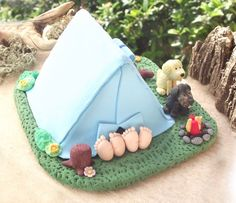 wedding cake toppers camping - Google Search
