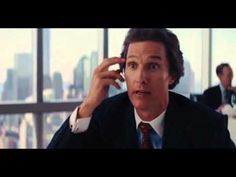 ▶ Wolf of Wall St: coked-out Wild Man broker Matthew McConaughey plying DiCaprio w/ advice & Martinis - YouTube