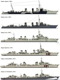 French Destroyer camouflage and liveries