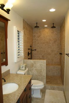Bathroom Remodel For Small Space stylish 3/4 bathroom. #bathrooms #bathroomdesigns homechanneltv
