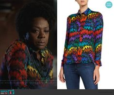 Annalise's multicolored feather print blouse on How to Get Away with Murder Daily Street Looks, How To Get Away, Feather Print, Other Outfits, Printed Blouse, Annalise Keating, Street Wear, Fashion Outfits, Clothes