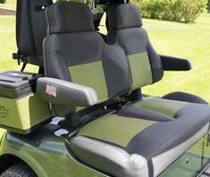 Golf cart custom seats that will have you riding in comfort. Golf Cart Covers, Golf Cart Seats, Car Accessories For Guys, Golf Cart Accessories, Pink Seat Covers, Golf Gadgets, Golf Card Game, Golf Betting, Dubai Golf