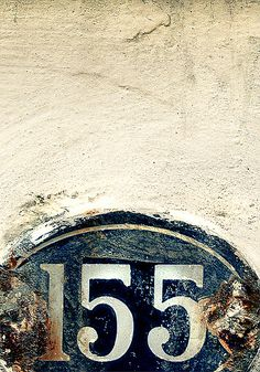 Random numbers out in the wild. enamel 166 with rust What's Your Number, Peeling Paint, Ivy House, Alphabet And Numbers, House Numbers, Typography Design, Logo Design, Signage, Blues