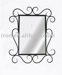 Iron Bathroom Mirrors Framed Mirror
