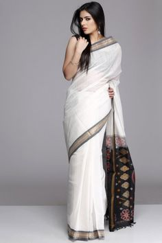 So Good Looking Superb White Color #Cotton #Saree
