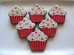Valentines Day Cookie Cupcakes