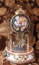 Disney Pinocchio & Geppetto Anniversary Clock w/Glass Dome Cover