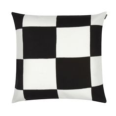 Marimekko Kukko Ja Kana White / Black Throw Pillow A clean checkered print designed by Maija & Isola makes a beautiful accent to your favorite seat. The Marimekko Kukko Ja Kana Throw Pillow will add a charming geometric flair with its classic black and. Marimekko Bedding, Marimekko Fabric, Black Throw Pillows, Colourful Cushions, Make Your Bed, Pillow Sale, Nordic Design, Cushions On Sofa, Print Design